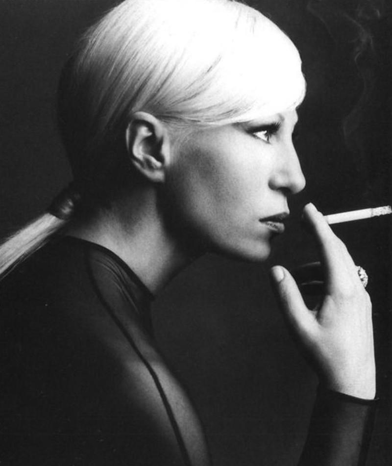 Donatella Versace Smoking