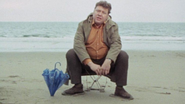 Fat Man on a Beach