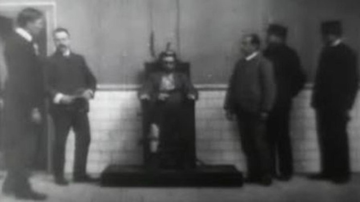 Execution of Czolgosz with Panorama of Auburn Prison