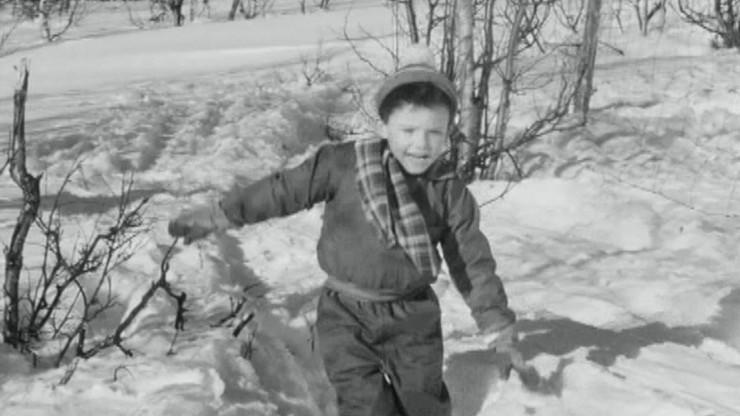 Far til fire i sneen