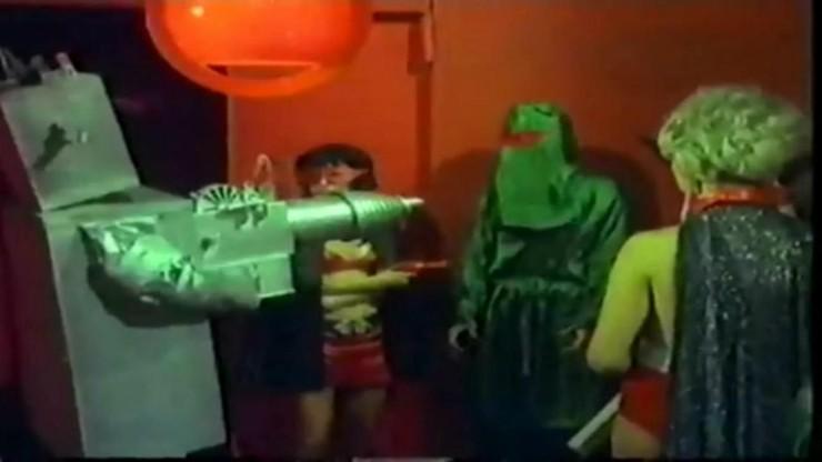 Three Supermen and Mad Girl