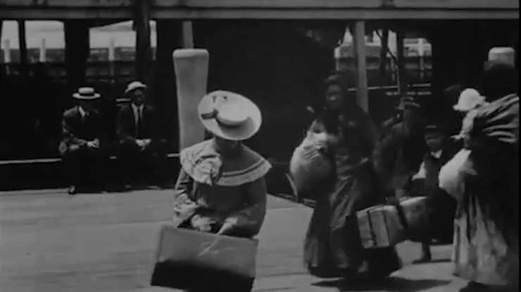 Emigrants Landing at Ellis Island