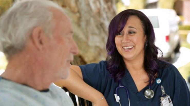 The Nurse with the Purple Hair