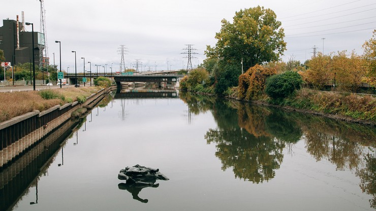 King Edward VII Equestrian Statue Floating Down The Don River