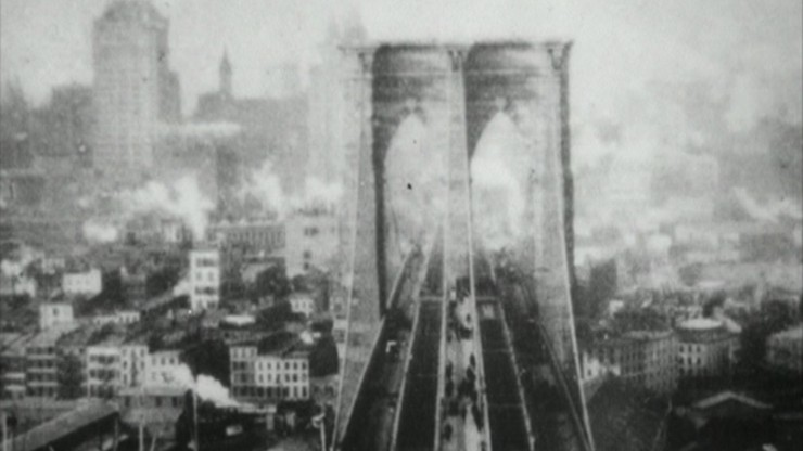 Panorama from the Tower of the Brooklyn Bridge
