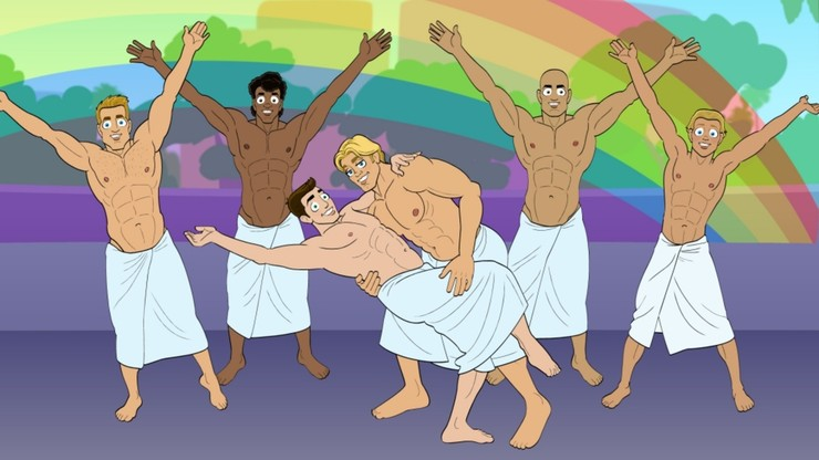 Troy: Naked Boys Behind Bars, Sing!