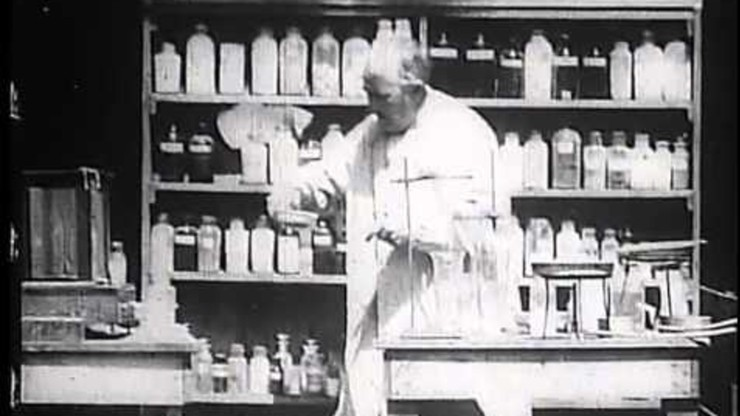 Mr. Edison at Work in His Chemical Laboratory