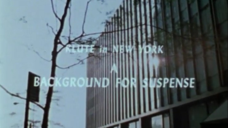 Klute in New York: A Background for Suspense