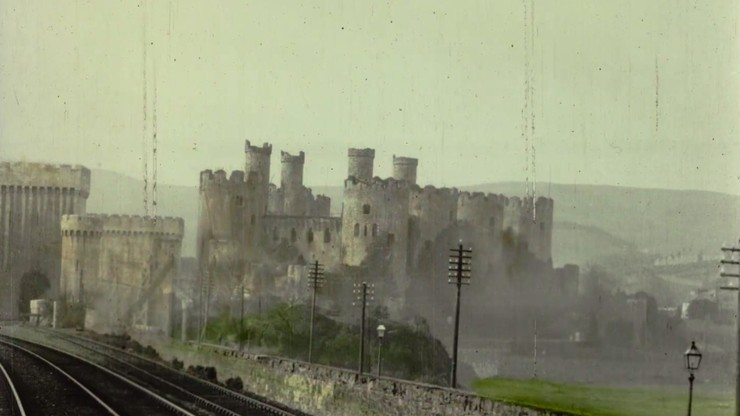 Conway Castle – Panoramic View of Conway on the L.& N.W. Railway