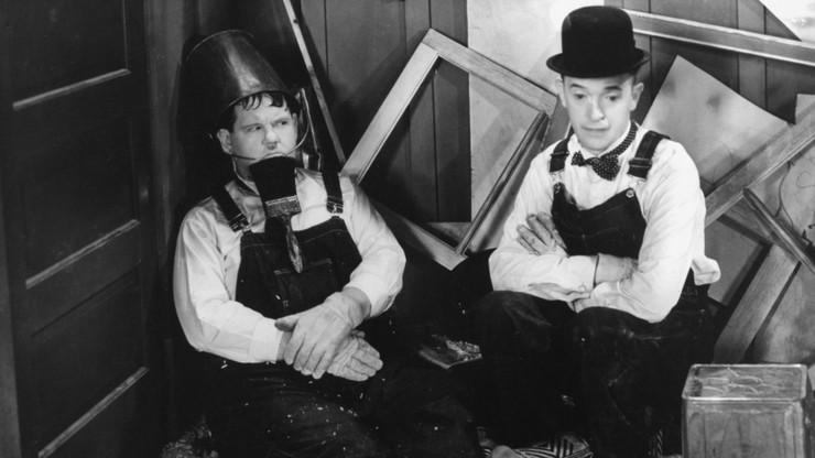 Laurel et Hardy menuisiers